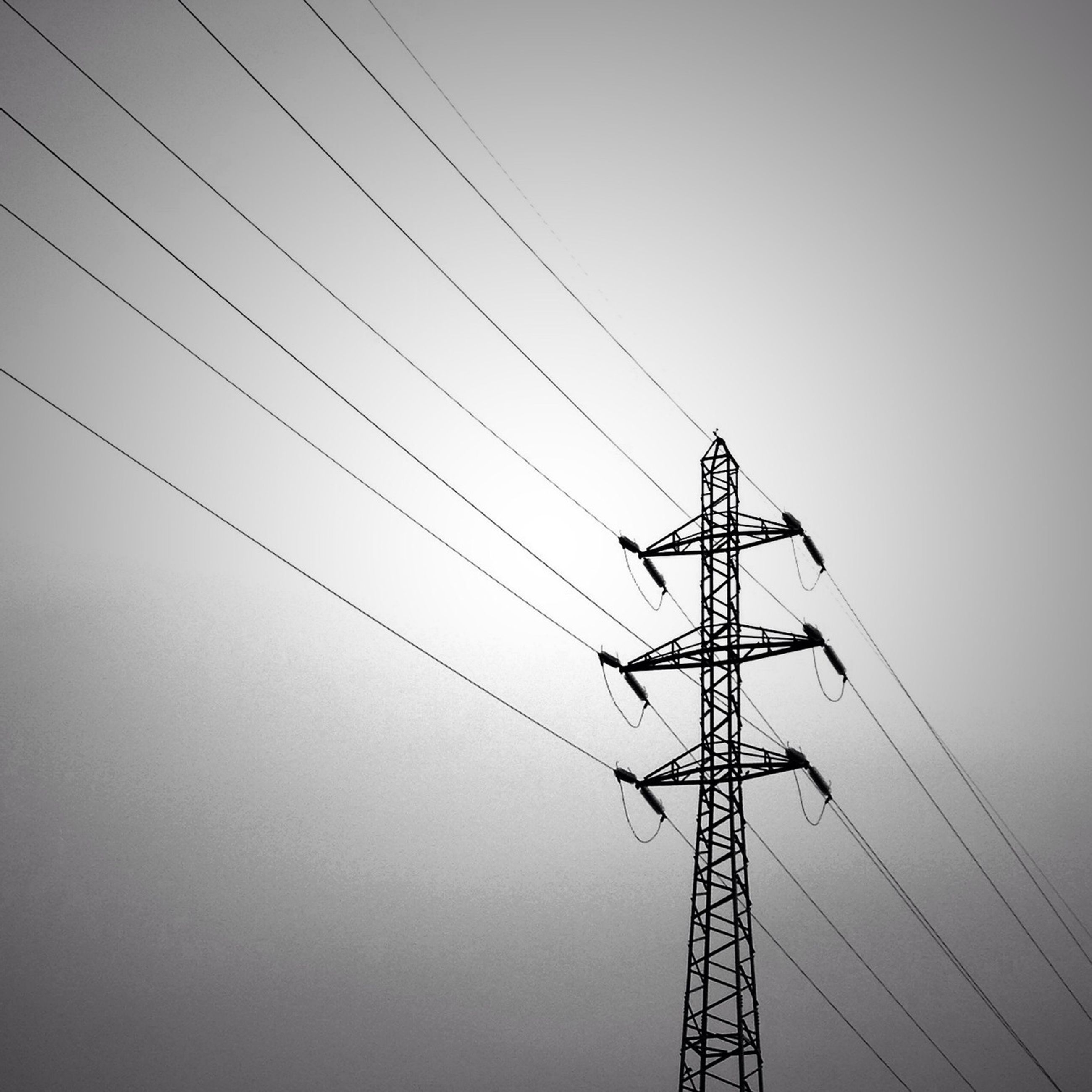 power line, power supply, electricity, electricity pylon, fuel and power generation, low angle view, connection, technology, cable, clear sky, silhouette, sky, power cable, complexity, outdoors, no people, day, electricity tower, dusk, development