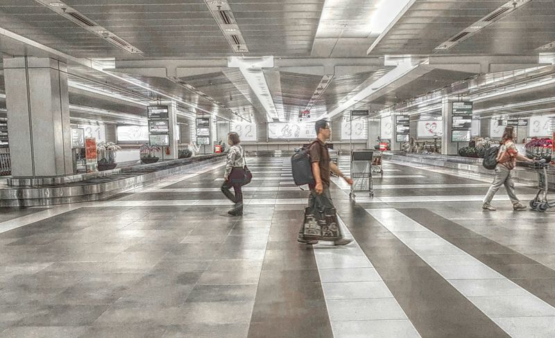 Travel Indoors  Commuter Motion Architecture Airport Architecture Airport Arrival Motion Blur Singapore Singapore Changi Airport Changi Airport