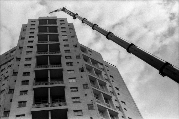 Film Photography Filmisnotdead Analogue Photography Analog Blackandwhite monochrome photography City Skyscraper Construction Site Sky Architecture Building Exterior Built Structure Tall - High Tower Urban Skyline Cityscape Skyline
