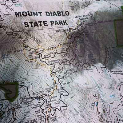 At noon today I dropped my brother off at the base of MtDiablo - 6 hours later I picked him up at the summit. He hiked 5 miles to the top. MitchellCanyon Clayton Hike