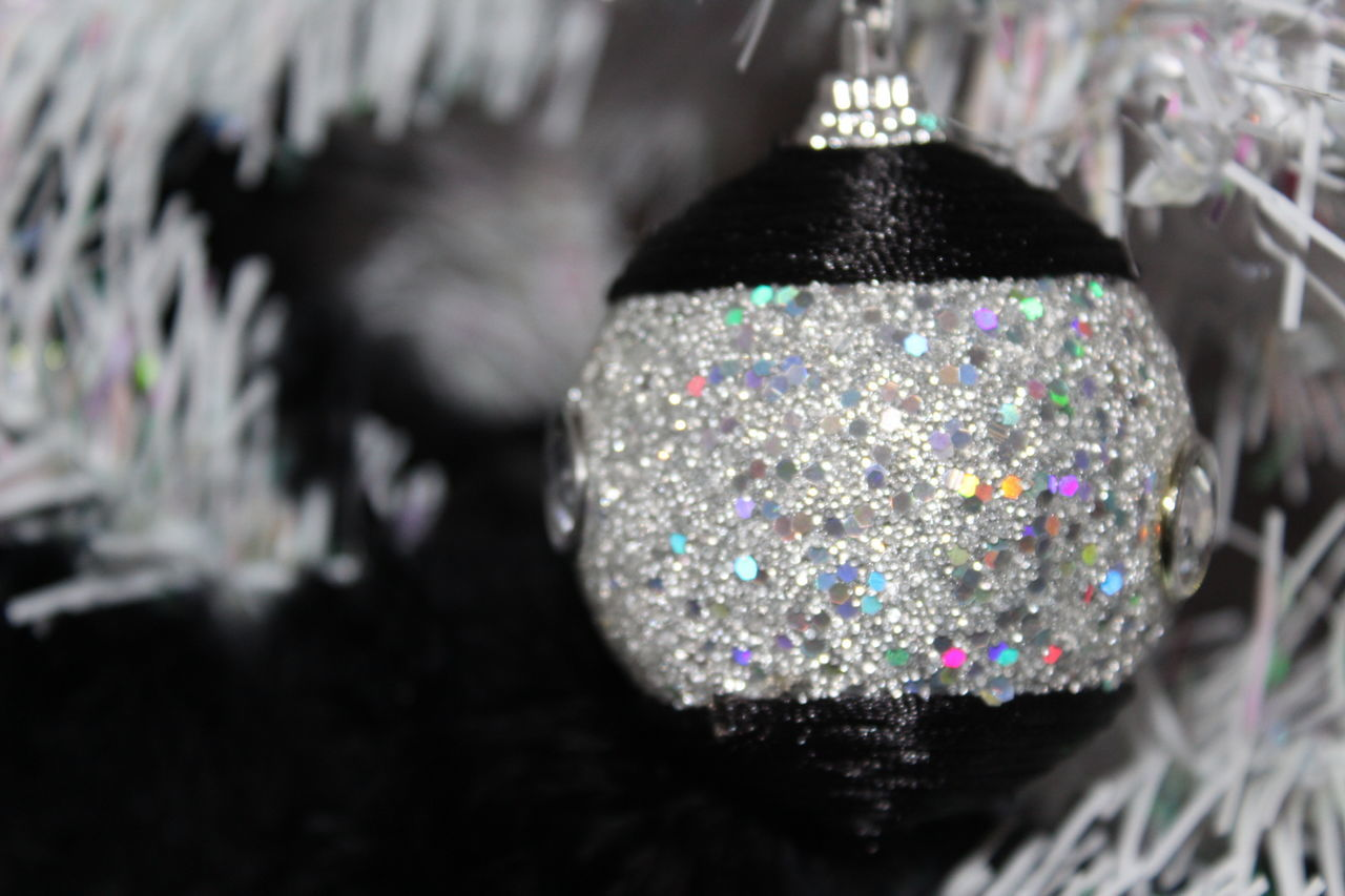 shiny, close-up, celebration, indoors, selective focus, multi colored, no people, luxury, day