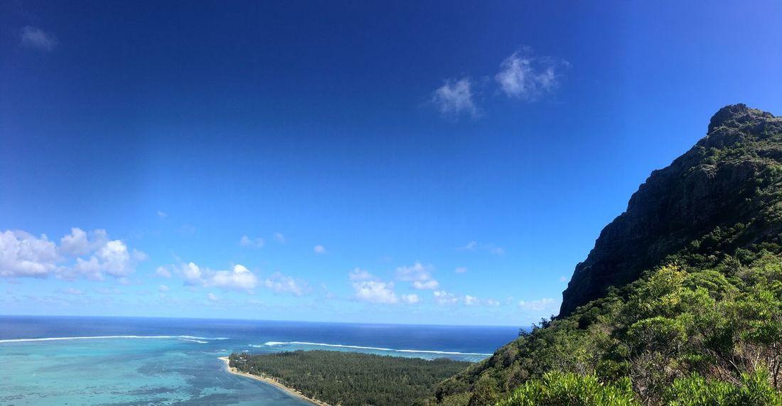 Landscape Travel Ocean Indian Ocean Lemorne Lemornebrabant Mauritius Blue Horizon Tranquility Nature Cloud - Sky Beach Land No People