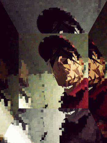 Glitchart POTD Glitch Experiment Amateur Art Original Satx