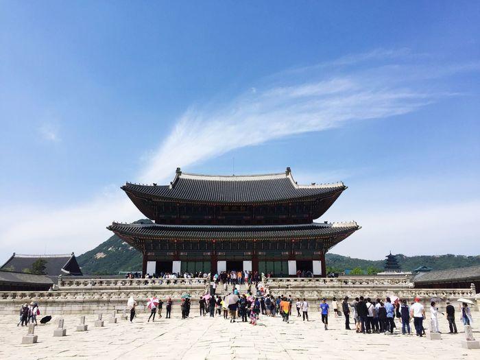 Gyungbok Palace Seoul, Korea hot spring day
