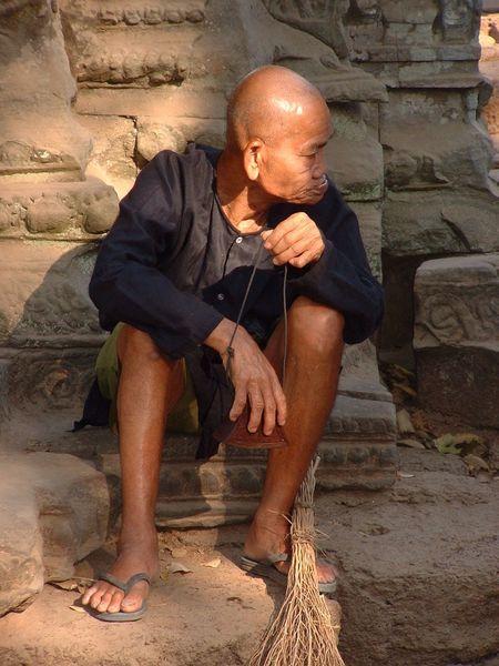 Cambodian man Cambodia ASIA Old Man Caretaker Local Siem Reap Khmer