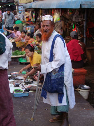 Old Man with Red Beard in Indian Quarter City City Life City Lifestyle Composition Elderly Man Full Frame Full Length Indian Quarter Looking At Camera Man Portrait Mature Adult Myanmar Old Man Old Man Portrait Outdoor Photography Portrait Portrait Of A Man  Real People Red Beard Senior Adult Skull Cap Street Market Traditional Clothing Travel Destination Yangon