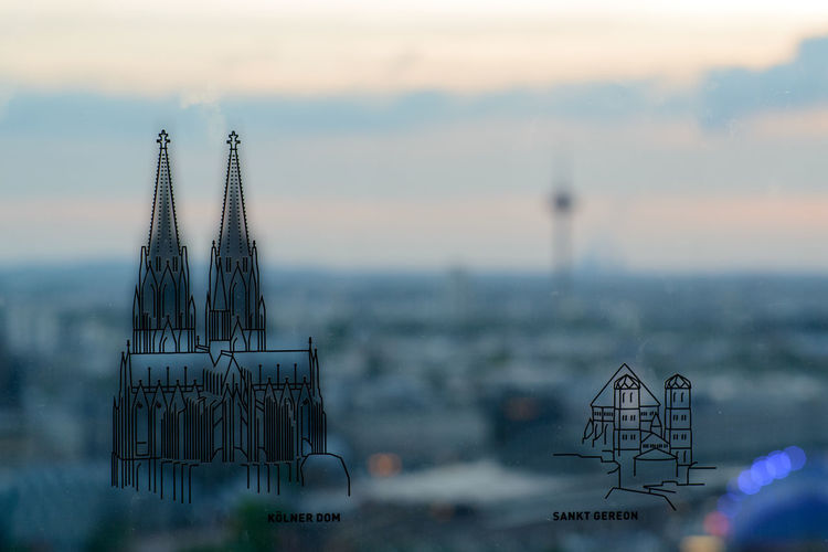 Cathedral Cologne Cologne Triangle Dog Köln Köln Cologne Panorama Sketch View Visitor's Terrace