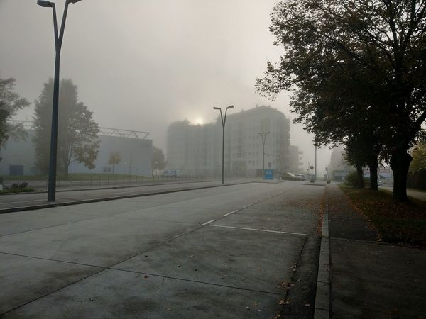 Morning Sunrise Fog Foggy Morning Extreme Weather Street No People Outdoors Autumn Vienna, Austria