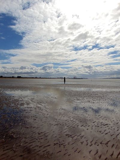 Beach Beauty In Nature Cloud Cloud - Sky Cloudy Crosby Beach Horizon Over Water Leisure Activity Lifestyles Nature Sand Scenics Sea Shore Sky Tranquil Scene Tranquility Water