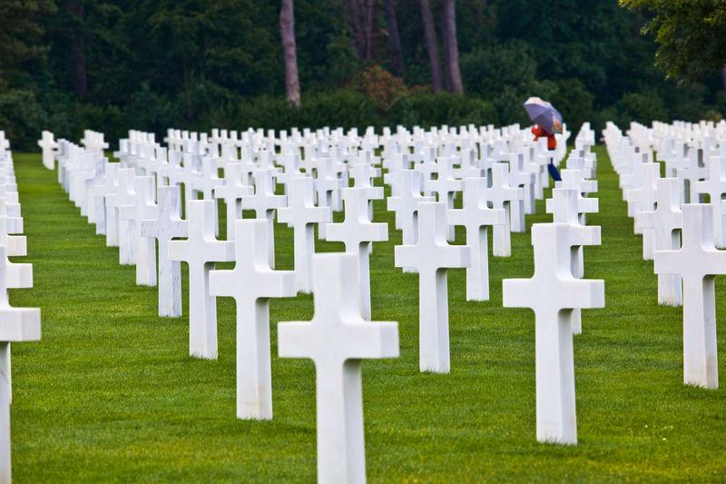 Full frame shot of tombstones in cemetery