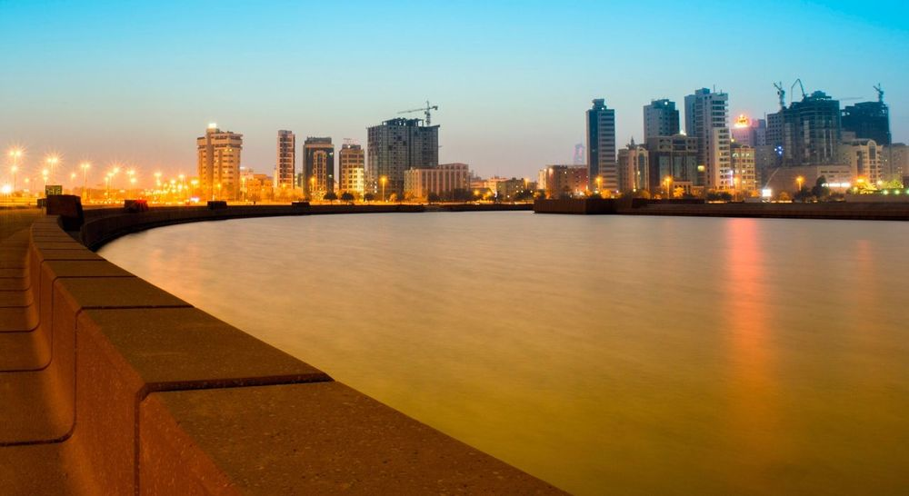 Sunset in Bahrain Architecture City Cityscape Sunset Water Bahrain Tourism