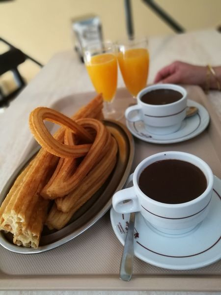 Food And Drink Drink Indoors  Coffee - Drink Healthy Eating No People Freshness Breakfast Drinking Glass Food Close-up Day Ready-to-eat Chocolate Con Churros Chocolate Churros With Chocolate Churros Breakfast Desayuno The Week On EyeEm Inner Power