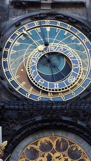 Ancient Clock with Astronomy Symbolism