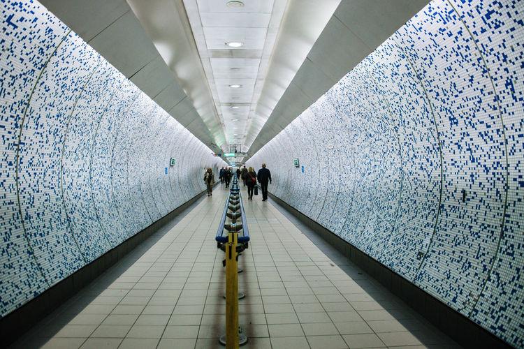 Canon77d Prospective Metropolis Metro Station LONDON❤ Underground Cityscape City Life Light Blue Full Length Men Walking Women Architecture
