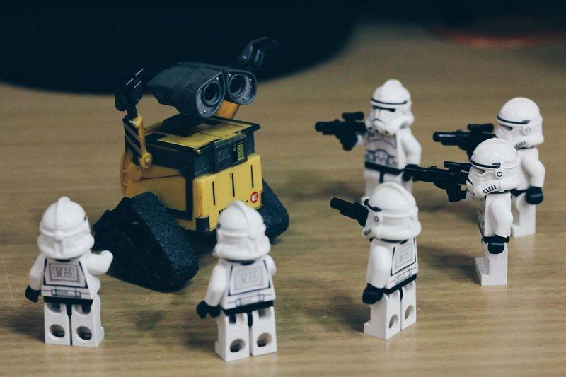 Starwarsphotography Star Wars Star Wars Lego Toy Photography Toyphotography No People Toys Toy Starwarstoypics Star Wars Love Starwarsfigures Starwars Wall E Wall-ephotography Wall-e