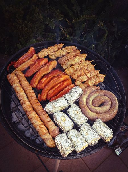 Mealtime Father's Day Braai BBQ Food Bacon Explosion Fire Lunch Sunday