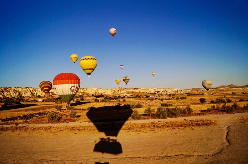 Hot Air Balloon Sky Air Vehicle Balloon Nature Transportation Blue Clear Sky Landscape Environment Outdoors Adventure Travel Day Flying EyeEmNewHere