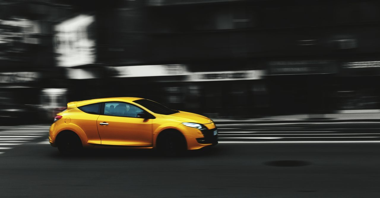 car, yellow, taxi, yellow taxi, transportation, blurred motion, speed, mode of transport, motion, no people, day, city, outdoors