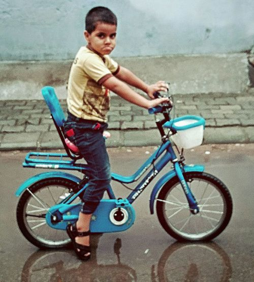 Bicycle Rainy Days Ride Enjoyment Shadow Click_india_click Chidren Memories Childhood Streetphotography Street Kids Being Kids Playing Cycling Cycling Around Cyclephotography There Is Life Everywhere Doit