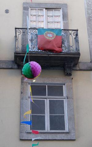 Euro 2016 Flag Green & Red Porto Portugal Street Decoration Windows