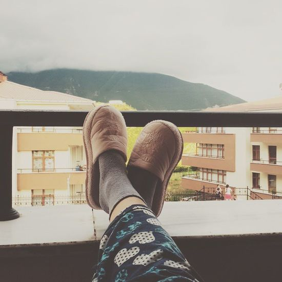Relaxing Vscocam Phography Nature Artvin Turkey Fashion Mountain Clouds Cloudporn Pink Slippers Pjs