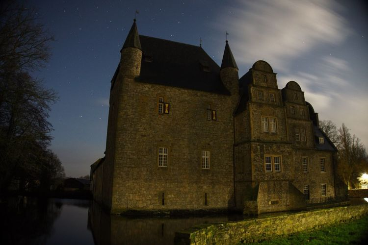 Schelenburg Schledehausen Architecture Building Exterior Built Structure Castle History Nature Night No People Outdoors Sky Stars Tree Water