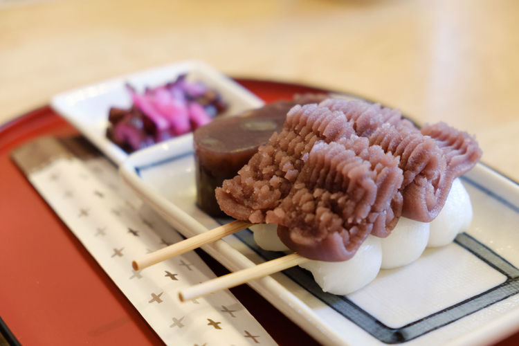 FUJIFILM X-T2 Japan Japan Photography Japanese Food Japanese Sweets Asian Food Close-up Dumplings Food Food And Drink Freshness Fujifilm Fujifilm_xseries Healthy Eating No People Plate Ready-to-eat Serving Size Sweet Food Sweets Table X-t2 あんこ だんご 団子