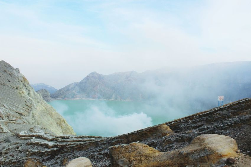 ijen crater Mountain Nature Volcano Crater Enjoying Life