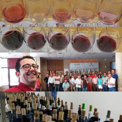 Un Resumen en imágenes de la jornada de hoy en la Cata para el Concurso Granseleccion de los Viños se CastillaLaMancha .