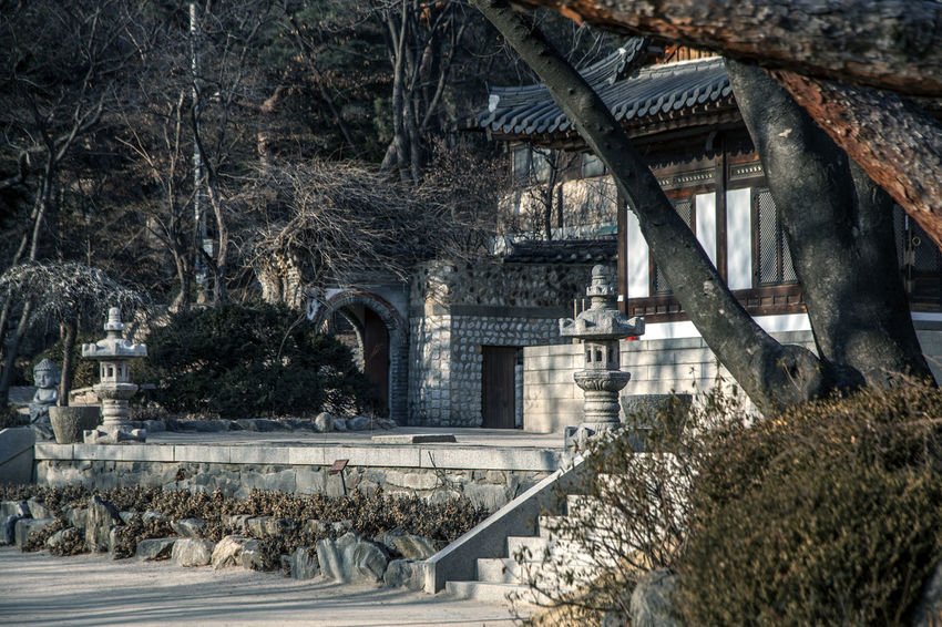 Abandoned Arch Architecture Buddhism Buddhist Temple Building Exterior Built Structure Church Column Destruction History Korea Traditional Architecture Leading Low Angle View Old Place Of Worship Railing Religion Ruined Silsangsa Spirituality Steps Stone Tower Structure Winter