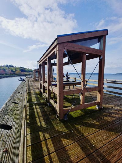 Waterfront LG V30 Tacoma_WA Españoles Y Sus Fotos Outdoor Photography Mossy Sea Beach Built Structure Pier Horizon Over Water