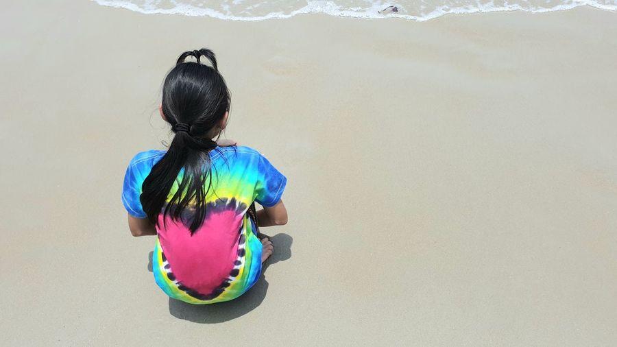 Children On Sandy Beach Sunny Sand Beach Lanscape Children Sunday Multi Colored Child Holi Childhood Fun Art And Craft