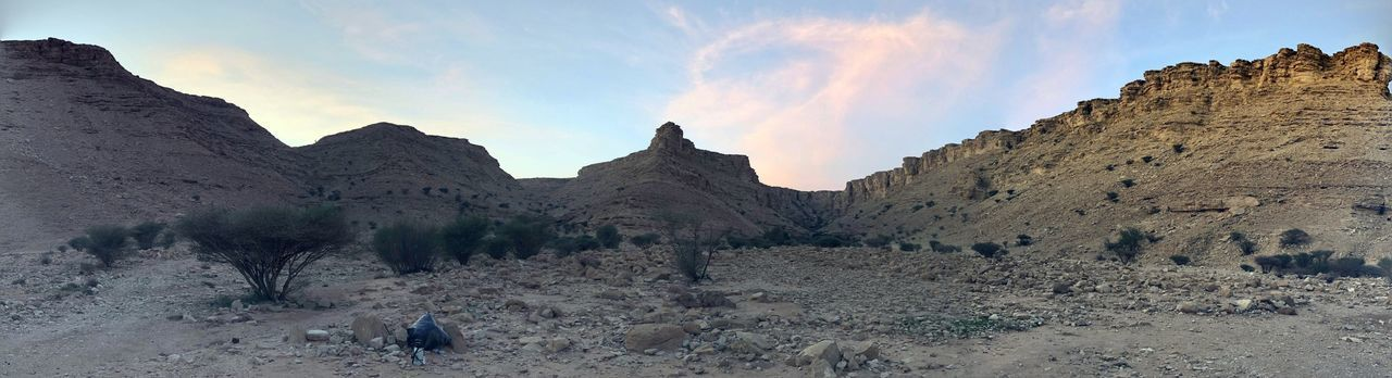 Sky Cloud - Sky Nature Tranquil Scene Tranquility Land Beauty In Nature Scenics - Nature Mountain Environment Rock Formation Rock Non-urban Scene