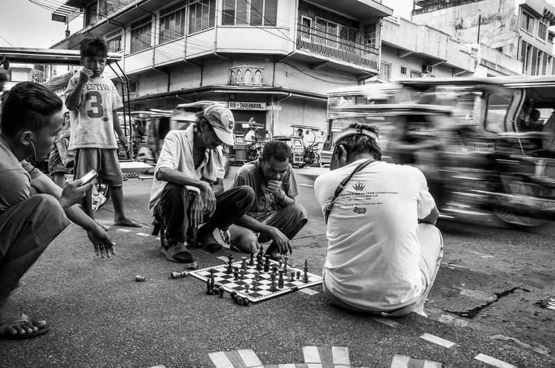 Flaneuring in Black and White Chess City Life Eyeem Philippines Leisure Activity Philippines Street Street Photography Streetphoto Streetphoto_bw Streetphotography Streetphotography_bw The Street Photographer - 2016 EyeEm Awards