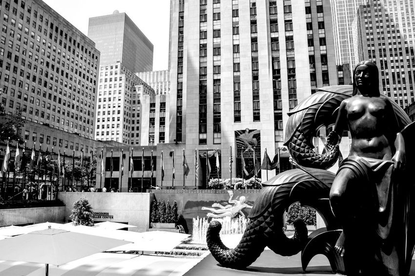 Rockefeller plaza NYC B&w Street Photography Showcase: December Black & White EyeEm Best Shots Travelblogger Earth Trek Travel Photography New York Photography Battle Of The Cities