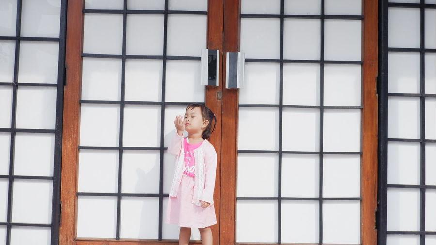 Littlegirl Baby Beautiful Woman Portrait Beauty City Arts Culture And Entertainment Fashion Window Standing Front View