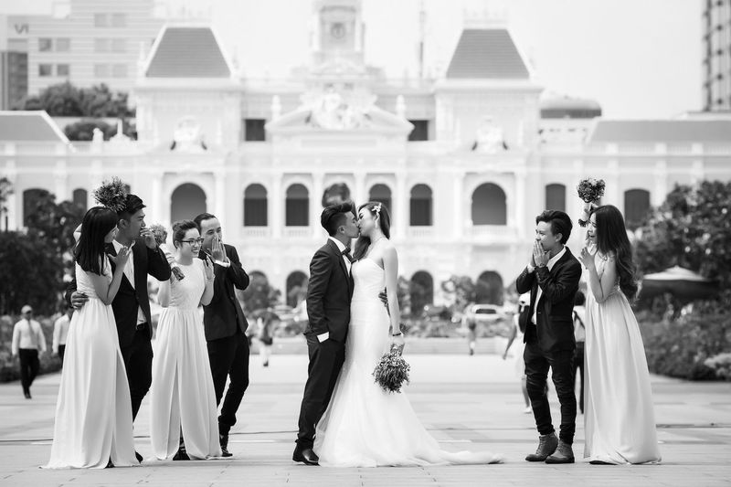 People Beautiful Blackandwhite Taking Photos Vietnamese Koolstudio Couple Wedding Photography Kiss Married Vietnam Moments Motion Bride Groom EyeEm Best Shots Iam Love Popular Photos
