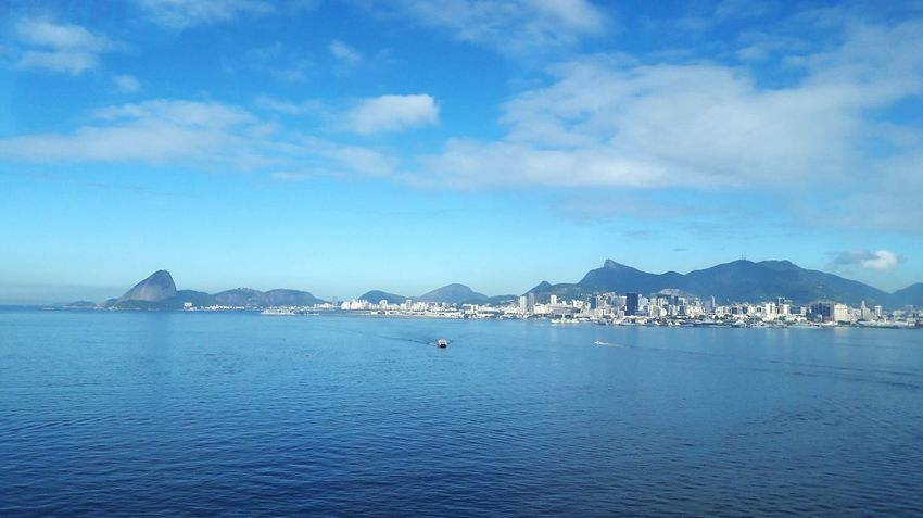 Blue is my fave color! Mountain Travel Destinations Sea Outdoors Blue Architecture No People Scenics Day Sky Water Nature Harbor City Clear Sky Cityscape Rio De Janeiro Eyeem Fotos Collection⛵ I Love My City Painted Scene Brazil Natural Beauty Brazilian Beauty Lost In The Landscape