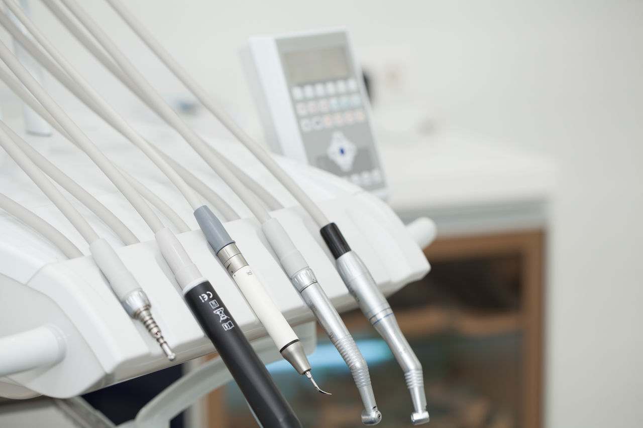 Close-Up Of Dental Equipment On Table