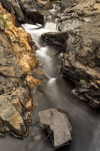 Stream flowing through rocks