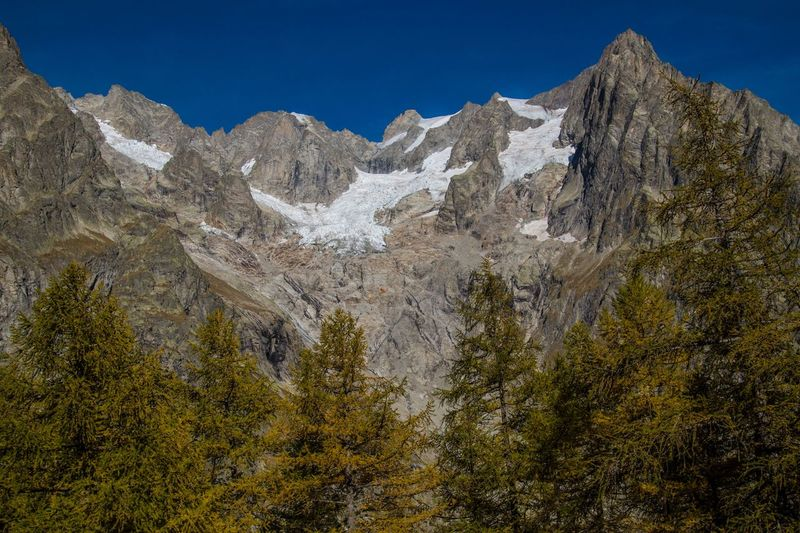 refuge bonatti,courmayeur,italy Mountain Scenics - Nature Plant Tree Beauty In Nature Sky Nature Mountain Range Environment Day No People Tranquil Scene Rock Tranquility Mountain Peak Land Landscape Non-urban Scene Clear Sky Blue Outdoors Formation Snowcapped Mountain