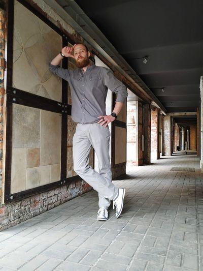 Russian stylish bearded dandy