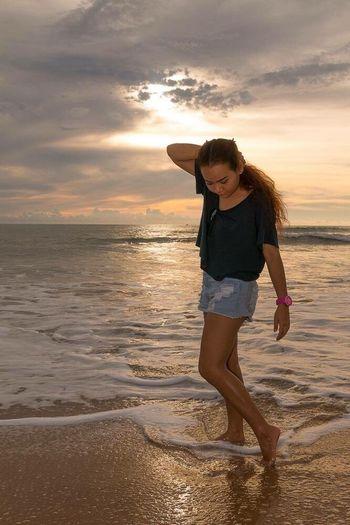 This is me. Sea Sand Sunset Memory MyJournal Kaoluk Laguna Resort Pangnga Thailand