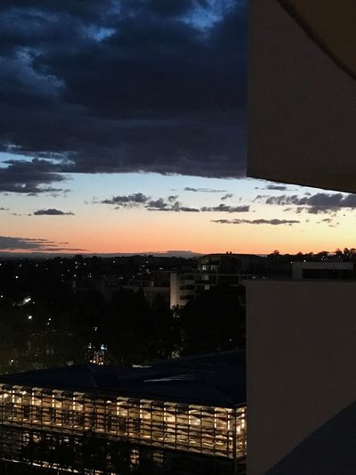 First Eyeem Photo Nightphotography Night Lights Sunset_collection Sunset at Bankstown Central Perspectives On Nature