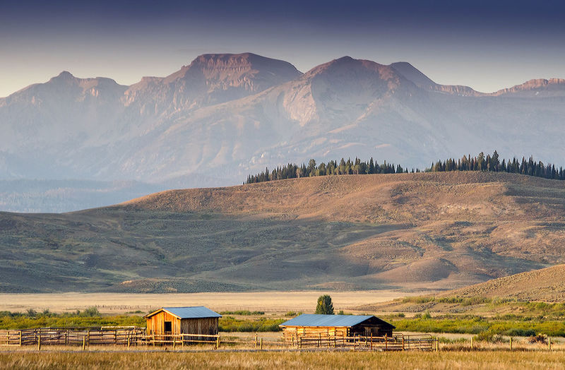 Beautiful rustic ranch in wyoming usa near the grand tetons