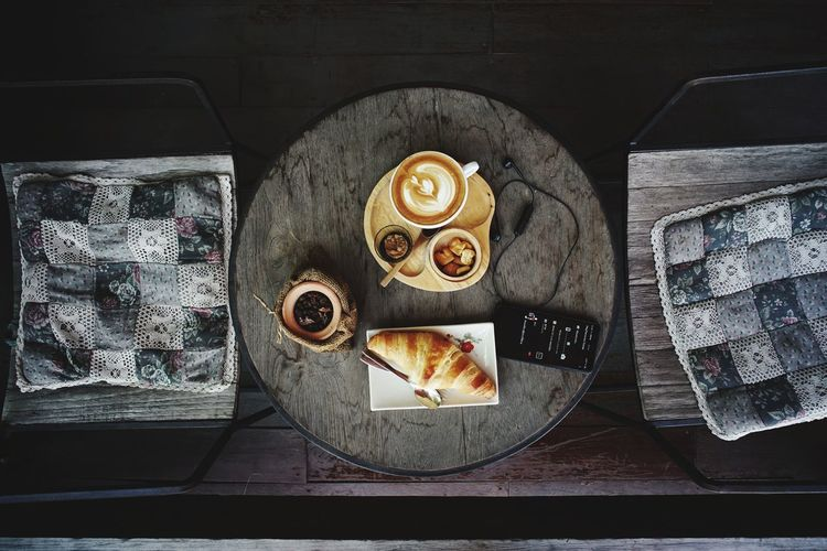 coffee time Directly Above Close-up Prepared Food Various Serving Tray Canned Food Preserved Ready-to-eat Tray Still Life
