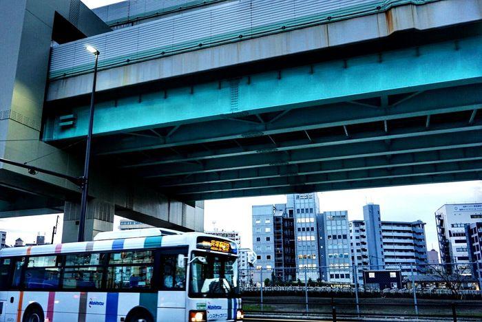 In Japan Fukuoka-shi Bus Nishitetsu Highway Drivingshots In My Car Have A Nice Day♥