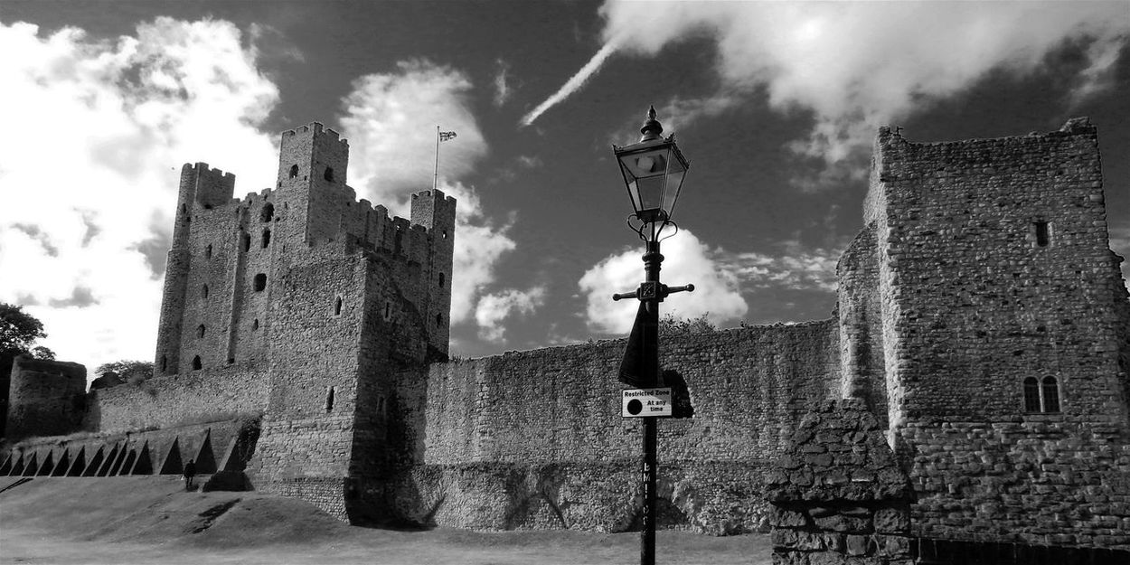 Monochrome Photography Architecture Built Structure Building Exterior Cloud - Sky Sky Tower The Past Castle Travel Destinations History Cloud Medieval Day Outdoors Tall Tall - High Cloudy No People Modern Art Gallery Bestoftheday Today's Hot Look Rochester Castle