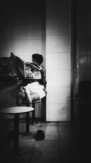 """""""The advertisement is the most truthful part of a newspaper."""" - Thomas Jefferson Blackandwhite Singapore Singapore Singapore EyeEm Little India Meetup Streetphotography"""
