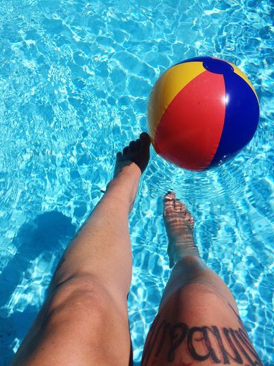 Pool Poolside Pool Time Water Ball Blue Water Sunny Day Hot Day Tattoo Tattoomodels Legs Swimming Swimming Pool Playing Cool Water Relax Chill Chilling Chillout Chillout Day